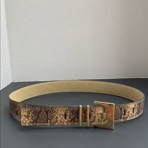 Faux Snake Skin Belt with Classy Buckle. NWT